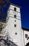 Steeple of the Castelmonte Church in Friuli Royalty Free Stock Photo