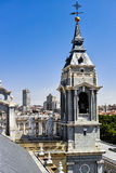 The steeple of Cathedral of Almudena Stock Photography