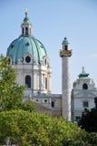 Steeple Charles church of Vienna Stock Image