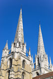 Steeple of the church of Bayonne Royalty Free Stock Photos