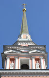 Steeple of the church of Cyril and Methodius Stock Photography