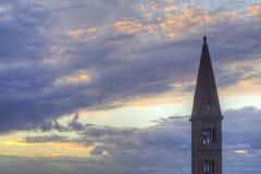 Steeple dans les cieux au-dessus de Florence, Italie Photo libre de droits