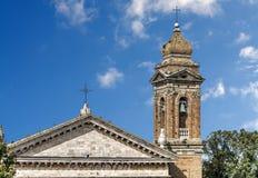 Steeple de cathédrale de Madonna del Soccorso photographie stock libre de droits
