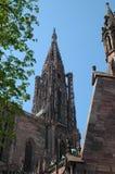 Steeple della cattedrale di Strasburgo Immagine Stock Libera da Diritti