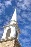 Steeple della chiesa Immagine Stock