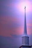 Steeple della chiesa Fotografia Stock