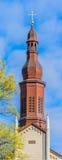 Steeple della chiesa Fotografie Stock Libere da Diritti