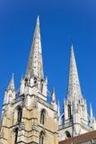 Steeple der Kirche von Bayonne Lizenzfreie Stockfotos