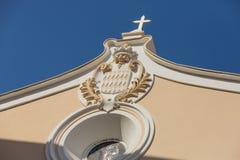 Steeple Eze Франция церков Стоковое фото RF