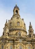 Steeple Frauenkirche Дрезден стоковые изображения