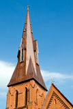 Steeple of historic church. In Huntsville, Alabama Royalty Free Stock Photo