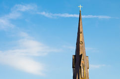 Steeple of historic church. In Huntsville, Alabama with copy space Stock Photography