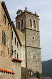 Steeple of Mosset village in Pyrenees Royalty Free Stock Photo