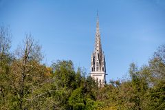 Free Steeple Of A Church On A Blue Sky Stock Images - 103051944