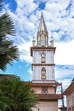 Steeple of an old cathedral on a sunny day Royalty Free Stock Photo