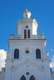 Steeple of an old colonial church Stock Photos