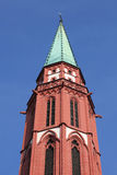 Steeple of the old Nicolai church, Frankfurt Stock Images