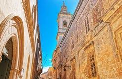 Steeple of Palazzo Santa Sofia in Mdina Malta. Steeple of Palazzo Santa Sofia in Mdina, Malta Stock Image