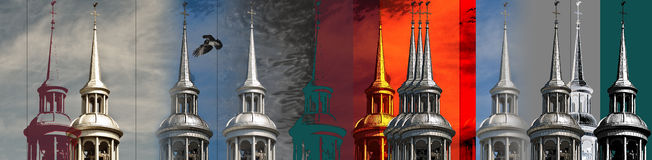 Steeple photo montage Royalty Free Stock Image