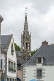 Steeple at Pont-Aven in Brittany Stock Photography