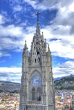 Steeple of the Quito Basilica church Stock Image