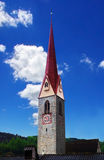 Steeple with red roof Royalty Free Stock Images