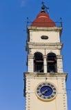 Steeple of Saint Spiridon in Greece. Steeple of Saint Spiridon at Corfu Greece Royalty Free Stock Image