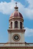 Steeple Santa Cruz kościół Bangkok, Tajlandia (,) Zdjęcie Royalty Free