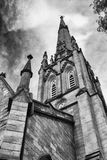 Steeple in the sky. Church steeple in downtown Hamilton royalty free stock photos