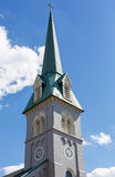 Steeple of St George Episcopal church Royalty Free Stock Photography