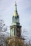 Steeple of St. Marien church Royalty Free Stock Photo