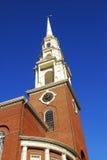 Steeple storico della chiesa immagini stock libere da diritti