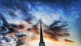Steeple sunset Stock Photos