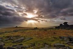 Steeple Tor. Dartmoor National Park Stock Photo
