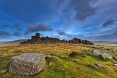 Steeple Tor. Dartmoor National Park Stock Photos