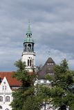 Steeple of town church, Celle Stock Photo