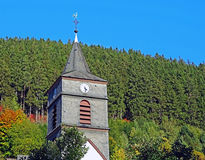 Steeple in Willingen in the Sauerland region Royalty Free Stock Image