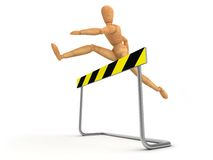 Steeplechase. ( computer generated image royalty free illustration