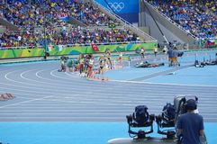 Steeplechase competition at Rio Olympics. 3000m women`s steeplechase competition at Rio Olympics. Photo taken on: Aug 13th, 2016 Stock Photography