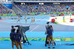 Steeplechase competition at Rio Olympics. 3000m women`s steeplechase competition at Rio Olympics. Photo taken on: Aug 13th, 2016 Royalty Free Stock Images