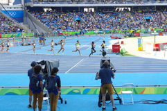 Steeplechase competition at Rio Olympics. 3000m women`s steeplechase competition at Rio Olympics. Photo taken on: Aug 13th, 2016 Stock Photos