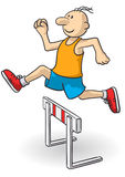 Steeplechase. Illustration of a person running very quickly Royalty Free Stock Images