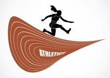 Steeplechase runner. Vector illustration of steeplechase runner Royalty Free Stock Photo