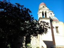 Steeples в старом городке Корфу Стоковые Изображения RF