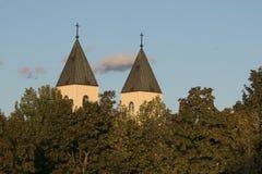 Steeples католической церкви Стоковое Изображение