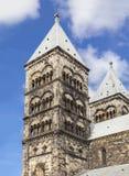 Steeples собора Лунда Стоковые Фотографии RF