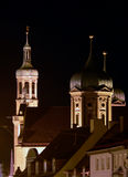 Steeples. A spectral view of the church steeple in Germany Stock Photo