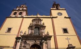 Steeples Door Bells Basilica Guanajuato Mexico Stock Photo