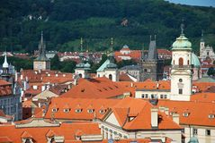 The steeples of Prague Stock Photography
