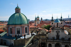 The steeples of Prague Royalty Free Stock Photos